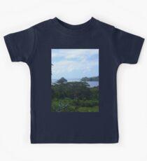 a desolate Palau landscape Kids Tee