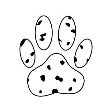Dalmatian Puppy Paw Print by Almdrs