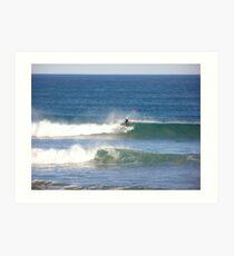 catching the surf Art Print