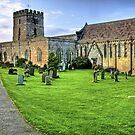 """""""Bamburgh Village Church"""" by Bradley Shawn  Rabon"""