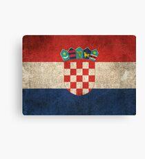 Old and Worn Distressed Vintage Flag of Croatia Canvas Print