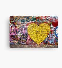 Jonnanova Zed (Jonh Lennon's wall) Canvas Print