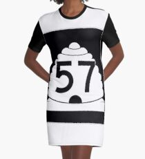 Utah State Route SR-57 | United States Highway Shield Sign Graphic T-Shirt Dress