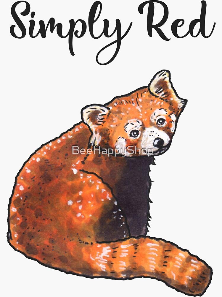 Red Panda - Animal series by BeeHappyShop
