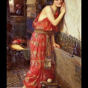 Thisbe Listening at the Wall c1909 by dianegaddis