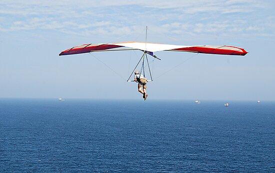 Hanging around on the Horizon - Strezleki Lookout Newcastle NSW by Phil Woodman