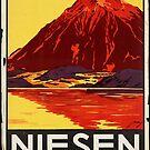 Vintage Niesen Switzerland Bahn Travel Vacation Holiday Advertisement Art Posters by jnniepce