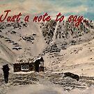 Scottish Mountain - Just a Note to Say... Card by EuniceWilkie
