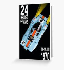 Porsche 917 Gulf 1970 Le Mans Poster Greeting Card
