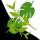 Tropical Leaves Wavy Halftone by GrimalkinStudio