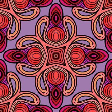 Juwel Ton wirbelte Muster von skinnyginny