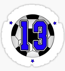 Soccer Birthday Gift 13 Year Old Sticker