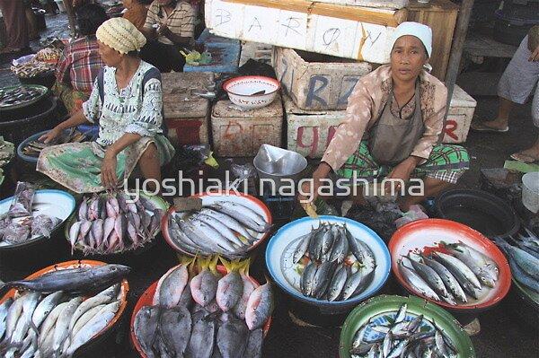 Market (2) , Indonesia  Rombok island by yoshiaki nagashima