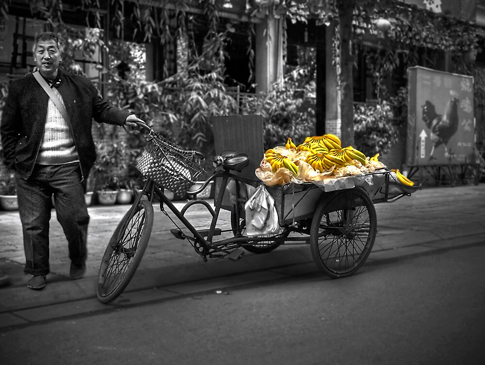 Banana Man - Chengdu, Sichuan China by HKart