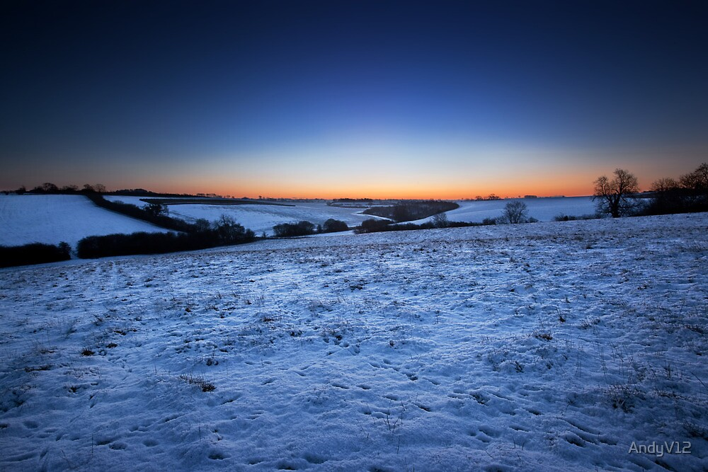 Frosty dawn tracks. by Andy Freer
