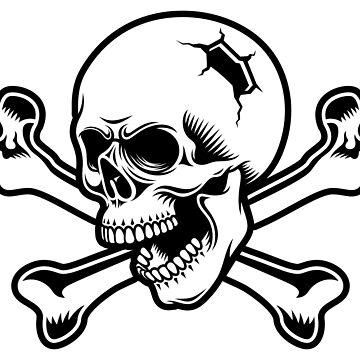 Pirate skull and crossbones by Skullz23