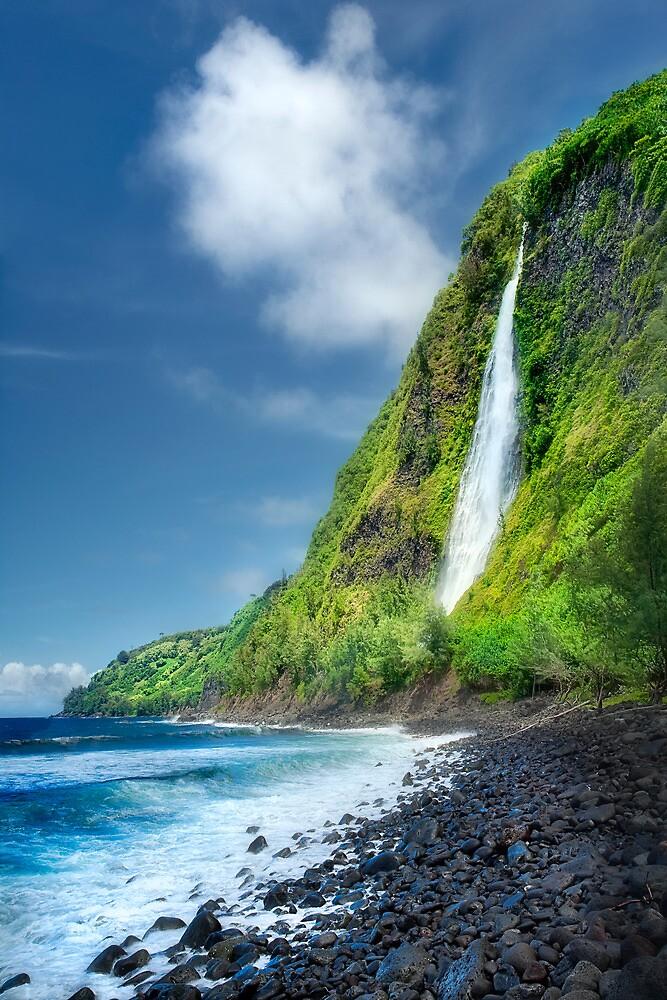 Waipio Valley - Kaluahine Falls by Yves Rubin
