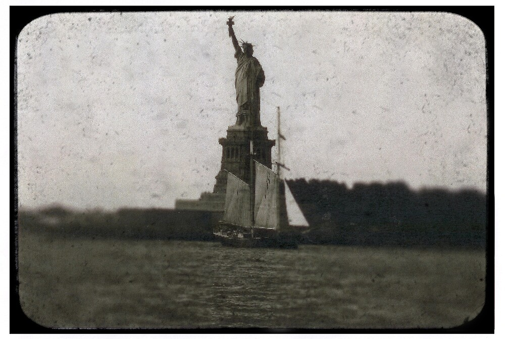 statue of liberty post card by andytechie