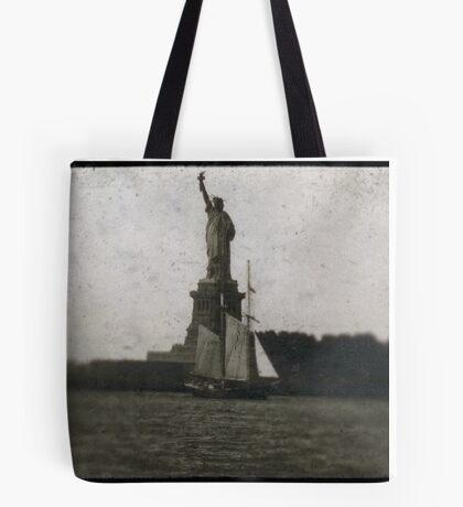 statue of liberty post card Tote Bag