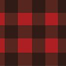 Red and Black Plaid by Samm Poirier