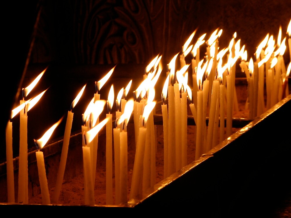 Church of the Holy Sepulchre, Candles 1 by Michael Berns