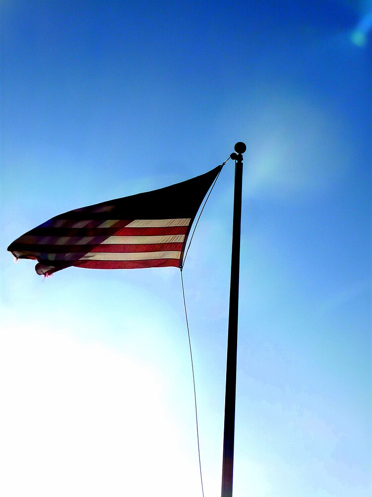 American Flag Flying in Sunlight by atoth