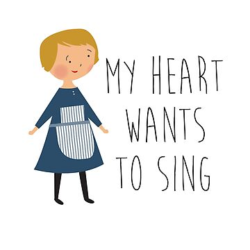 Sound of music kids tee - my heart by laurathedrawer