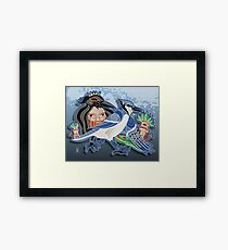 the bluejay Framed Print