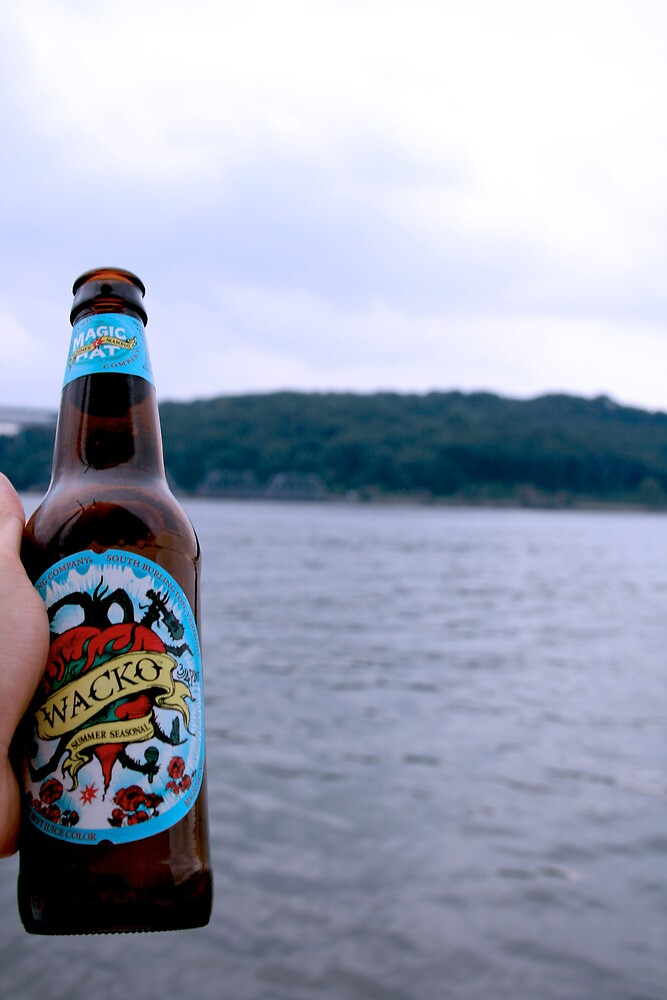 Beer on the Hudson River by Michael Berns