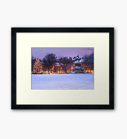 Edinburgh Winter Framed Print