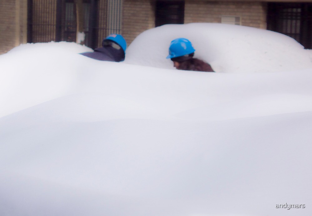 Con Edison Workers in the Snow by andymars