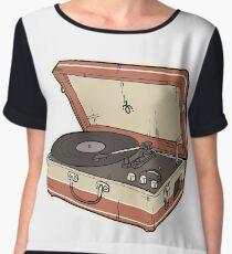Vintage Record Player Chiffon Top