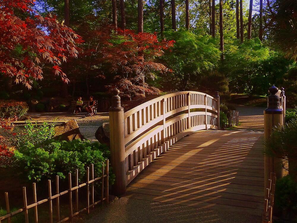 Bridge in Japanese Garden by atoth