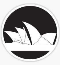 Sydney Opera House Contrast Icon Sticker
