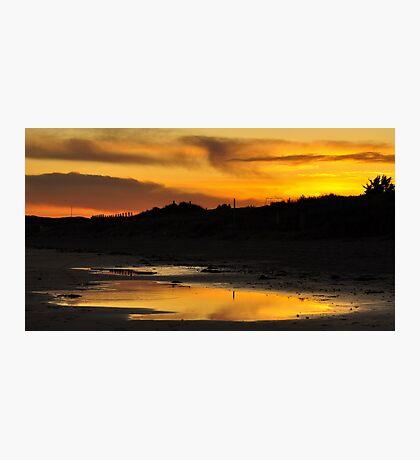 Amber Sunset on Donabate Strand. Photographic Print