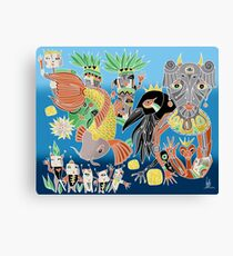 the koi the crow and elephant shaman Canvas Print