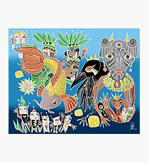 the koi the crow and elephant shaman Photographic Print