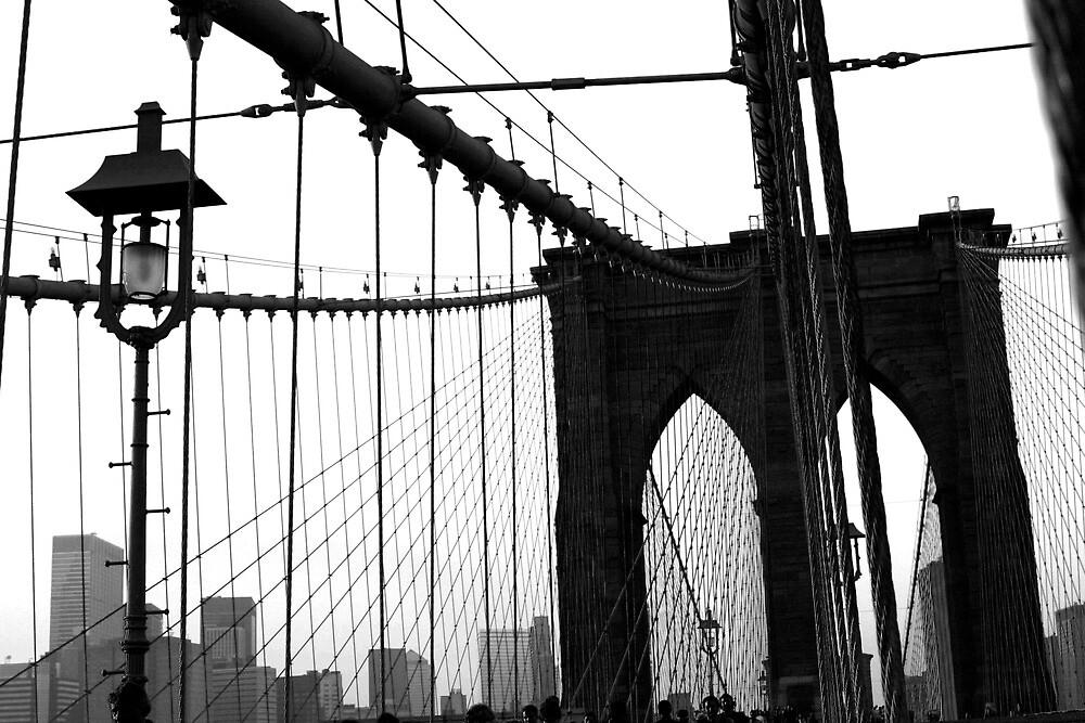 Brooklyn Bridge from Brooklyn 4 by Michael Berns