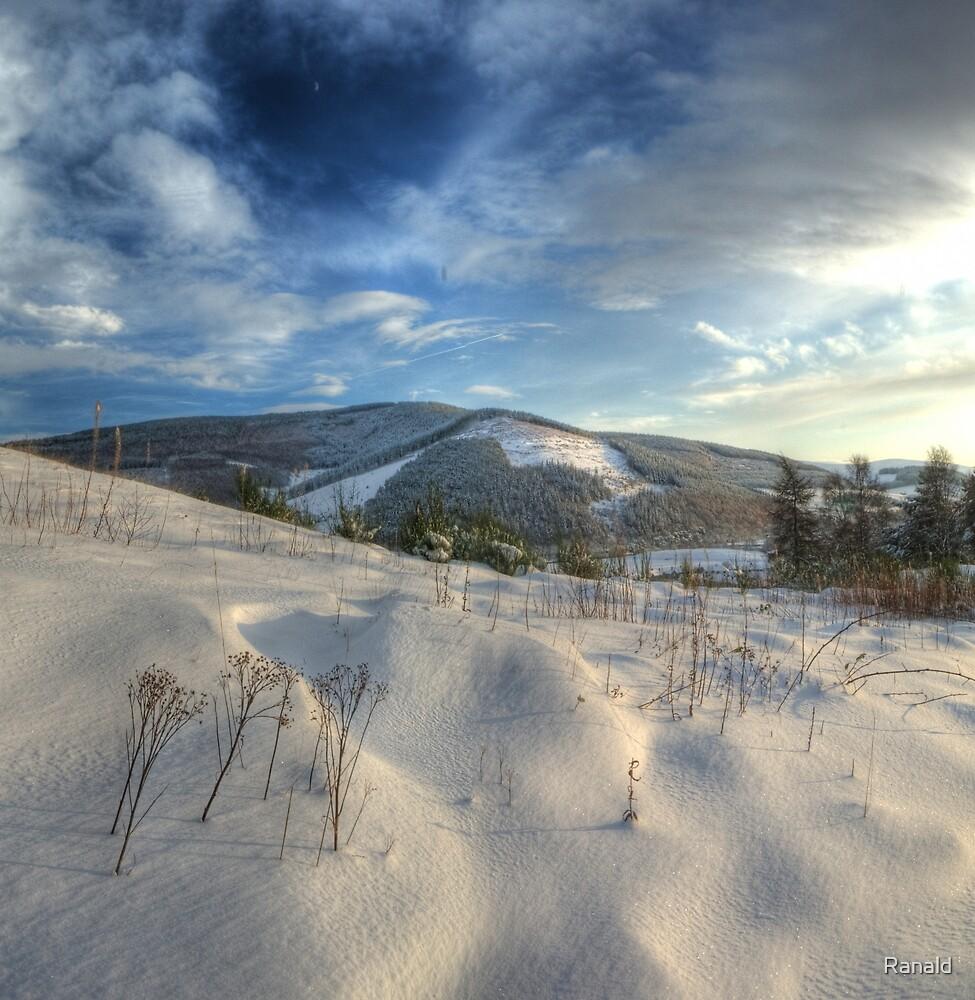 Snow dunes by Ranald