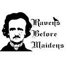 Edgar Allen Poe - Ravens before Maidens by Dea Poirier