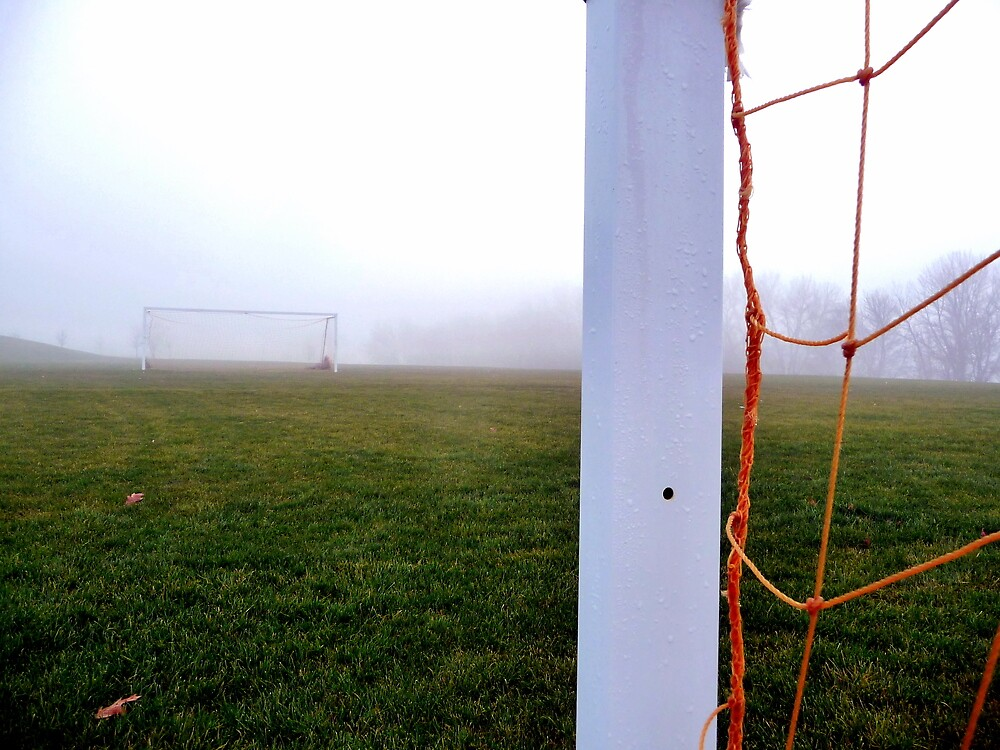 Soccer Field in Fog by atoth