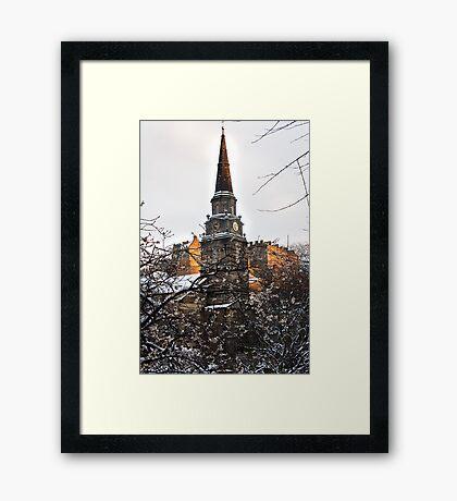 Edinburgh Winter III Framed Print