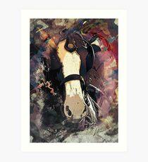 Equine Elegance: Budweiser Horses at the Calgary Stampede Art Print