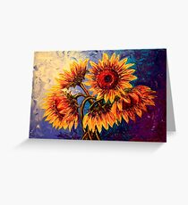 The Five Sunflowers Greeting Card