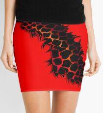 Red Leopard Print Ripped Tear Design  Mini Skirt