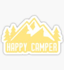 Happy Camper (yellow mountains) Sticker