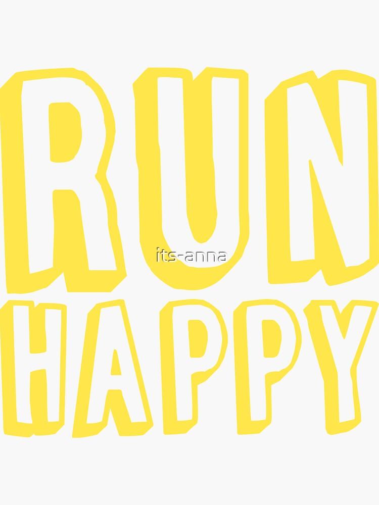 Run Happy (gelb) von its-anna
