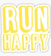 Run Happy (yellow) Sticker