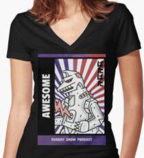 Robot Monster Women's Fitted V-Neck T-Shirt