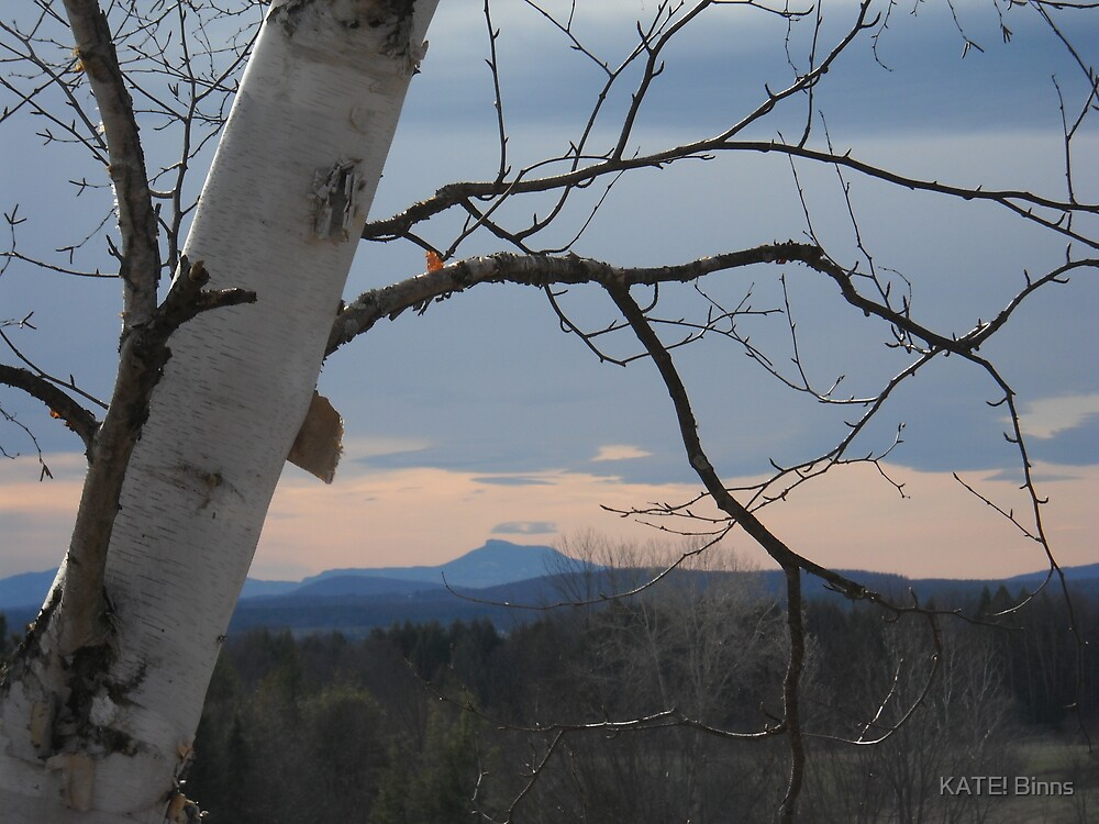 Sunset and Camel's Hump by KATE! Binns